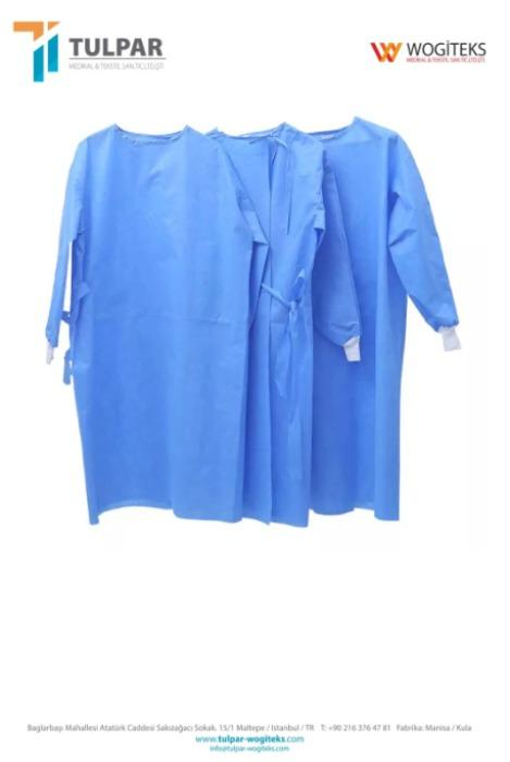 SS Disposable isolation gown surgical gown - SS materials ,blue colour ,40 gsm Medical  Surgical isolation Gown Suit Apron