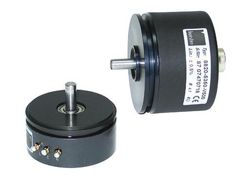 电位式角度传感器 - 8820 - 精确,使用寿命长,价格便宜,适用于所有类型的模拟角度测量,低扭矩,可连续旋转,选件:IP65