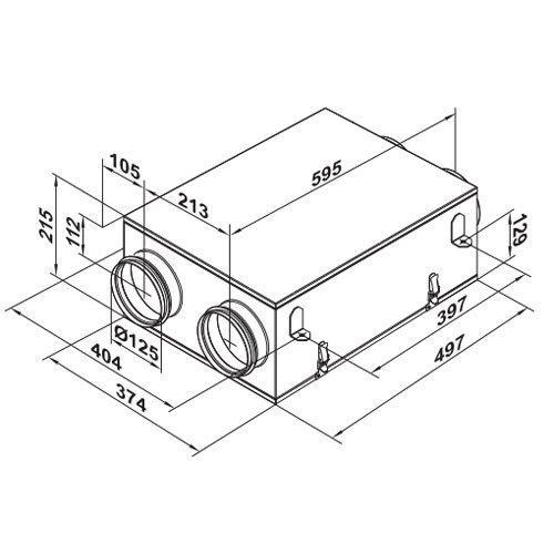 Hőcserélős szellőztető - Új VUE 100 P mini hővisszanyerős szellőztető készülék