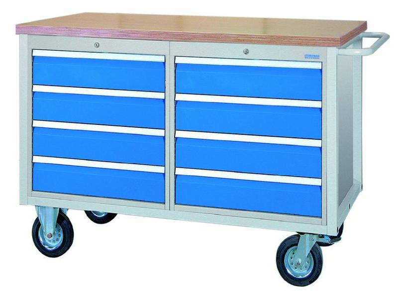 Mobile Workbench 1200 M with 8 drawers - 04.12.28VA