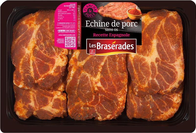 Echine de porc sans os recette Espagnole 600g - Viande et volailles