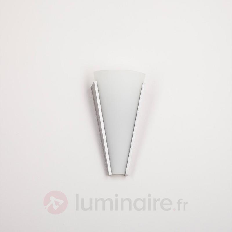 Applique en verre Magnus décorative - Appliques chromées/nickel/inox