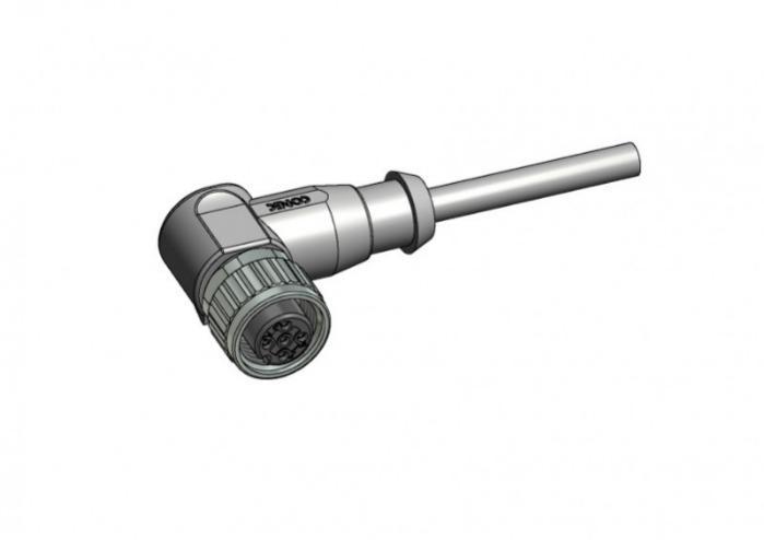 M12x1 Rundsteckverbinder umspritzt - M12x1 Rundsteckverbinder umspritzt