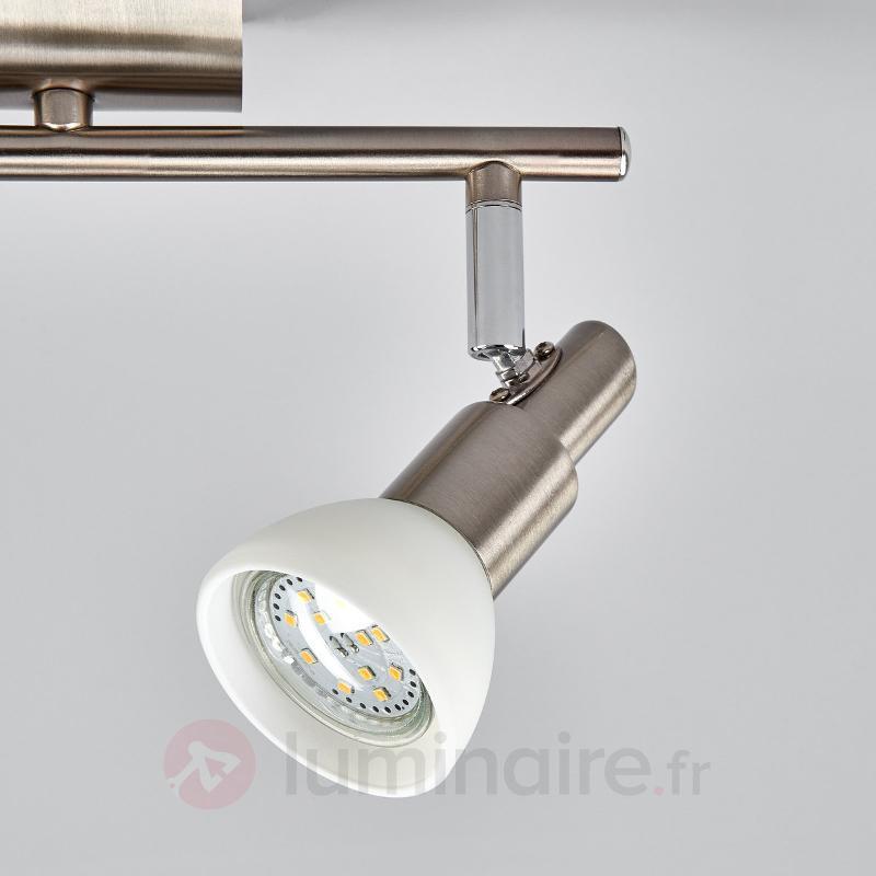 Plafonnier LED Fiona en verre et en métal - Plafonniers LED