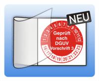Kabelprüfplakette Geprüft nach DGUV Vorschrift 3 - Farbe: schwarz rot grün blau violett gelb braun grau rot Men
