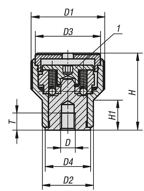 Bouton moleté de serrage à couple constant - Vis dynamométriques et inserts taraudés