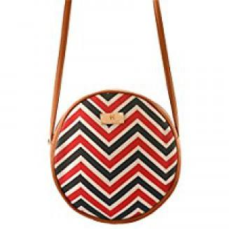 Women's Sling Bag (Tan and Multi Colour)