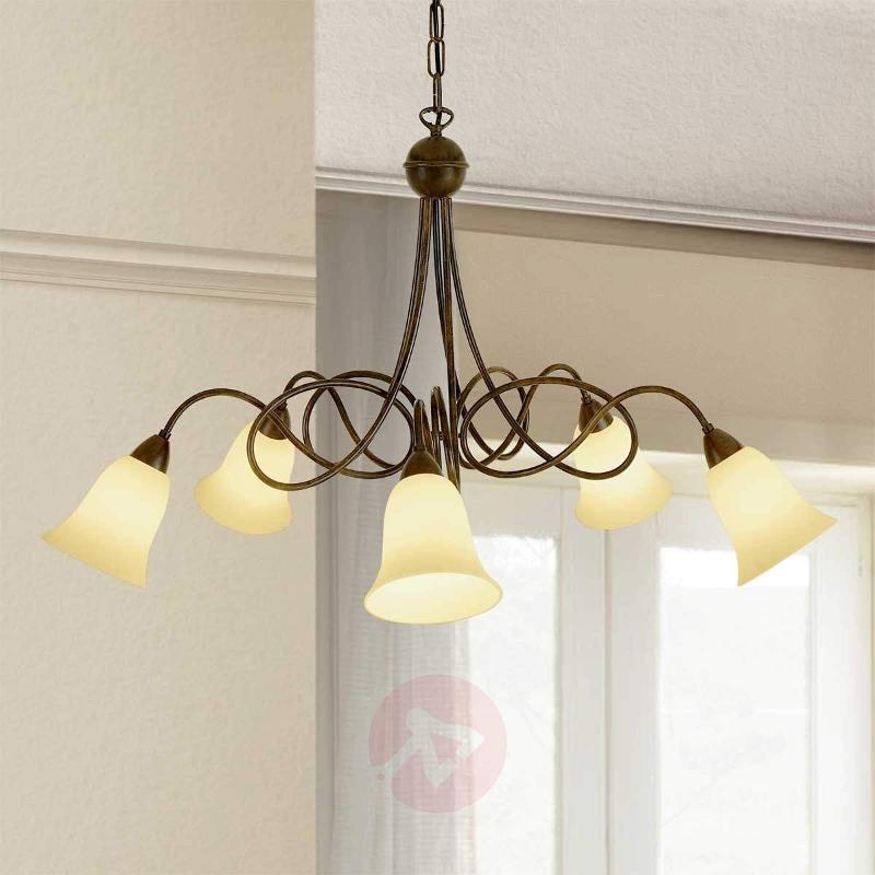 5-bulb country house hanging light Michele - Pendant Lighting