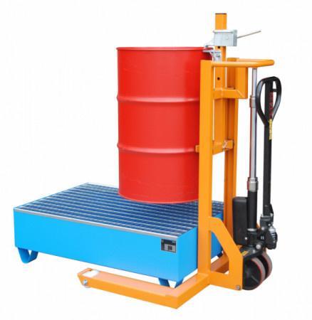 Drum jack roller type FHR - Pick up drums and transport them safely