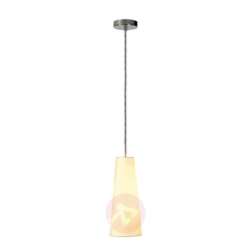 Soprana Cone 1 Lamp Fabric Pendant Lamp, White - Pendant Lighting