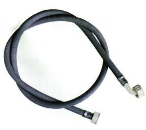 Tubo carico Lav. in gomma grigia con curva - Tubi carico e scarico lavastoviglie e lavatrice