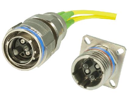 MIL-38999 fiber optic connector - Ruggedized fiber optic connector