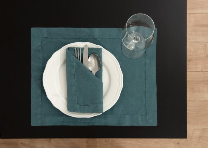 Serviette de table en lin - Serviette, Nappes et set de table en lin
