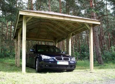 Abri voiture en bois - Pavillon - null