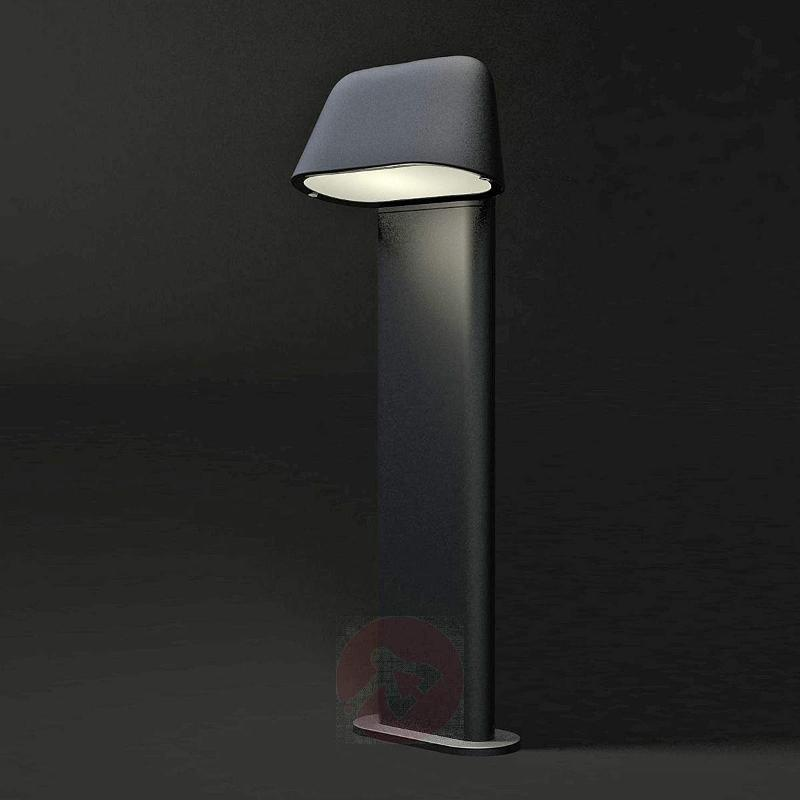 Sentinel Modern Pillar Lamp, Dark Grey - Pillar Lights
