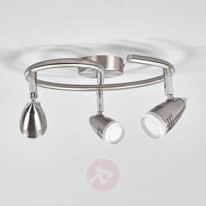 3-bulb LED circular ceiling spotlight Andy - indoor-lighting