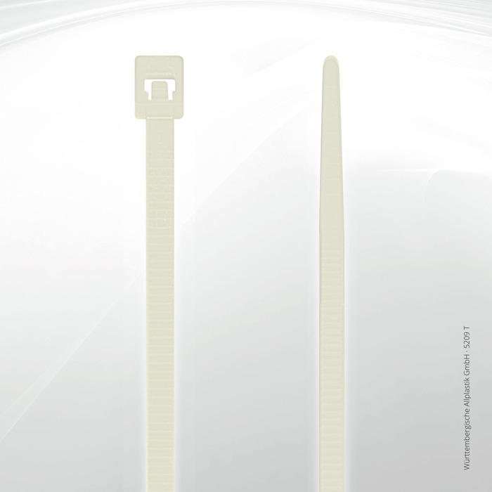 Heat resistant cable ties Allplastik-Kabelbinder® - 5209 T (natural)