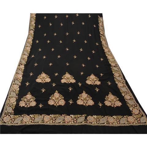 Vintage Indian Georgette Embroidered Premium Saree