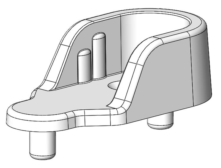 Schrankrohrlager 2 Za - Kunststoff - grau-aluminium - Schrankrohrlager