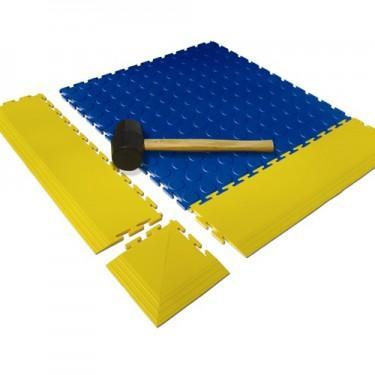Tapis de sol industriel - Dalles PVC Maillet en Caoutchouc 60 mm de diamètre