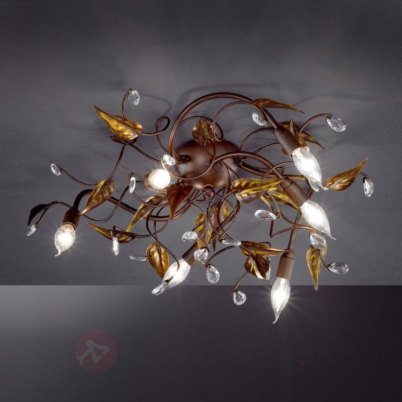 Plafonnier CATANIA style florentin à 6 lampes - Plafonniers rustiques