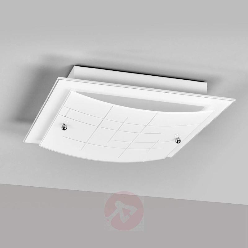 Glass LED ceiling light Denisa, beautiful look - Ceiling Lights