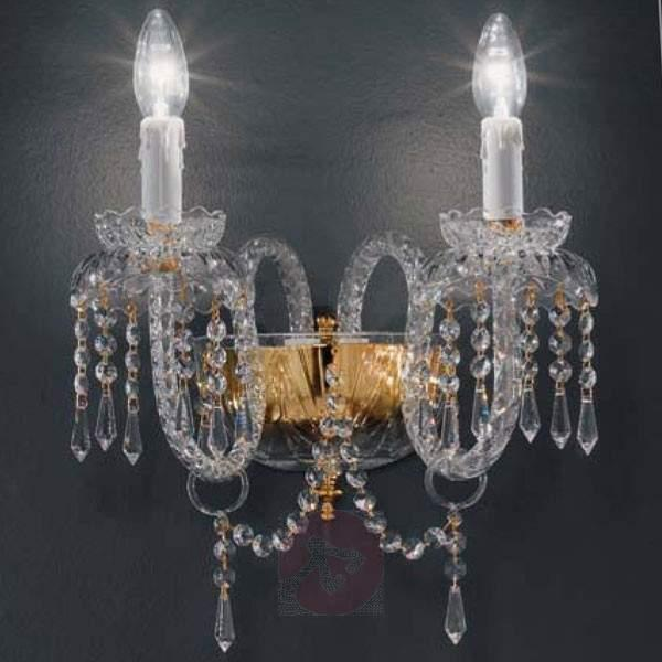 Dazzling PRINZESSIN crystal wall light - Wall Lights