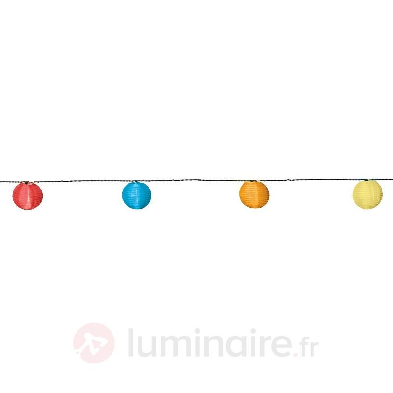 Guirlande lumineuse solaire LED 10 lampes colorées - Lampes solaires décoratives