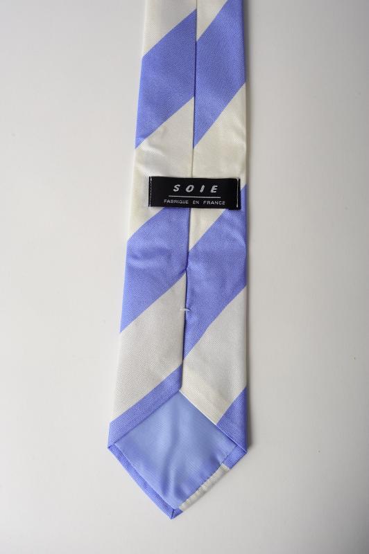Cravate en soie personnalisée - fabriquée en France (club de rugby)