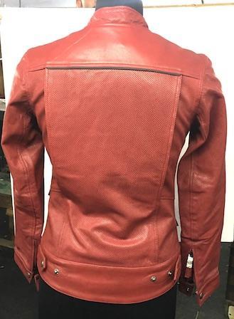 Ladies Leather Jacket - Perforated Leather