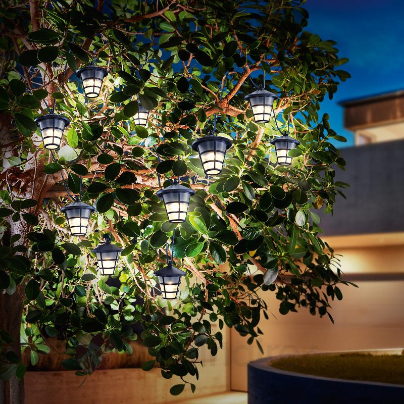 Guirlande lumineuse LED solaire Asia Style - Lampes solaires décoratives