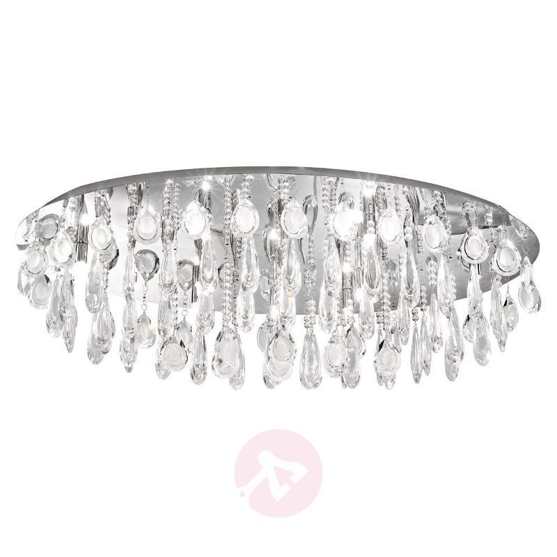 Oval Calaonda Crystal Ceiling Lamp - Ceiling Lights