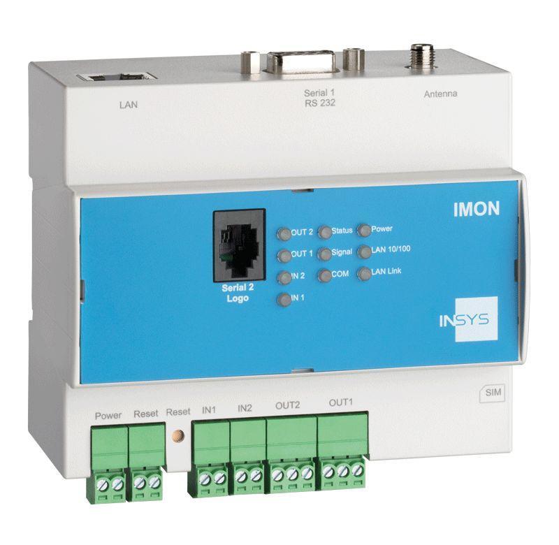 IMON-G100 GPRS-Störmelder, Mobilfunk-Router, VPN, NAT - IMON-G100 überwacht: Siemens LOGO!(TM) 0BA4-0BA8, I/Os, SMS, sendet: SMS, E-Mail