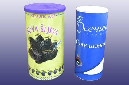 Packaged dried prunes