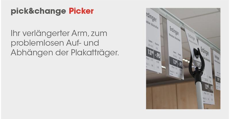 promoflex Verkaufsförderung - pick&change – das einfachere Abhängesystem