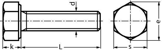 VIS A TETE HEXAGONALE ENTIEREMENT FILETEE - INOX A2 - DIN 933 - ISO 4017 (210101)