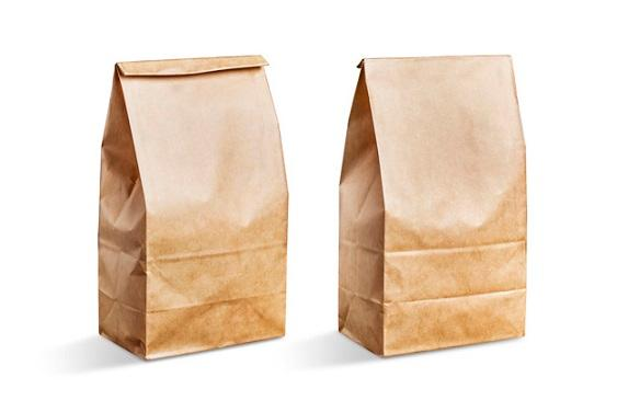 Paper bag for food or gifts - Paper bag that can be used for food packaging or for gifts
