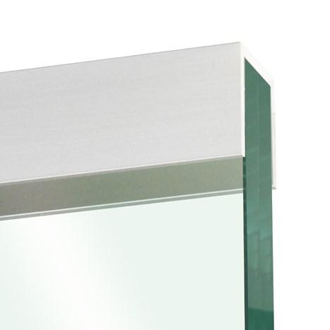 Glass edge protection profile 10x22x10x2mm, stainless steel effect - U-profiles