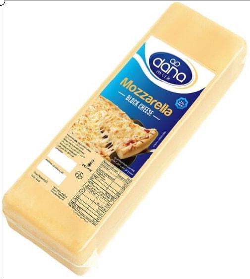 MOZZARELLA CONGELADA EN BLOQUES - MOZZARELLA elaborada a partir de leche de vaca pasteurizada