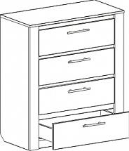 """Chest Of Drawers 850 """"Elana"""" - Bedroom furniture"""