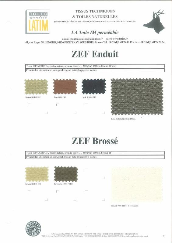 ZEF Enduit et ZEF Brossé - Toiles naturelles