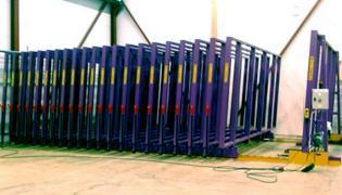 LATENSTELLING MOBIELE LADEFRAMES: GEMOTORISEERD - Opslag metalen platen