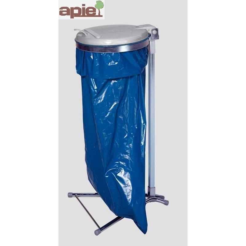 Support sac poubelle sur pieds avec couvercle - Référence : 1024