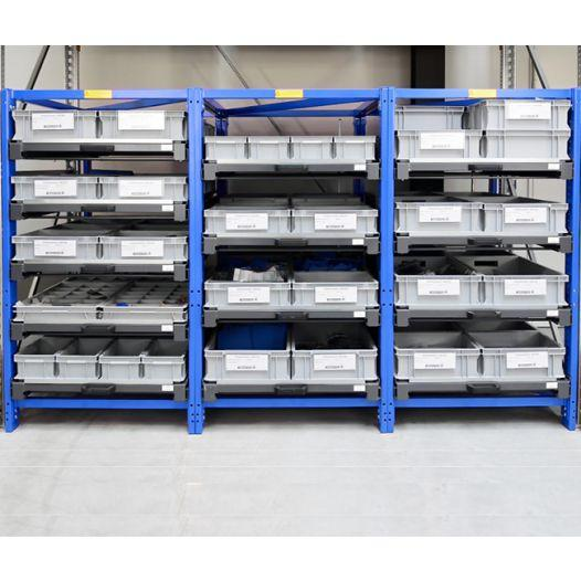 Compact pull-out rack 70 % two-way shelves - Load capacity:200 kg per shelf