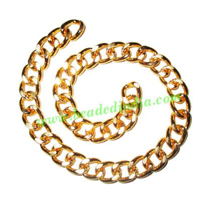 Gold Plated Metal Chain, size: 2x9mm, approx 8.8 meters in a - Gold Plated Metal Chain, size: 2x9mm, approx 8.8 meters in a Kg.