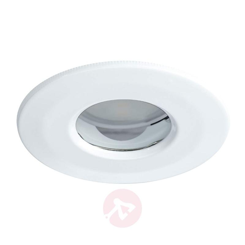 IP65 - LED recessed light Coin, round, satin white - Recessed Spotlights
