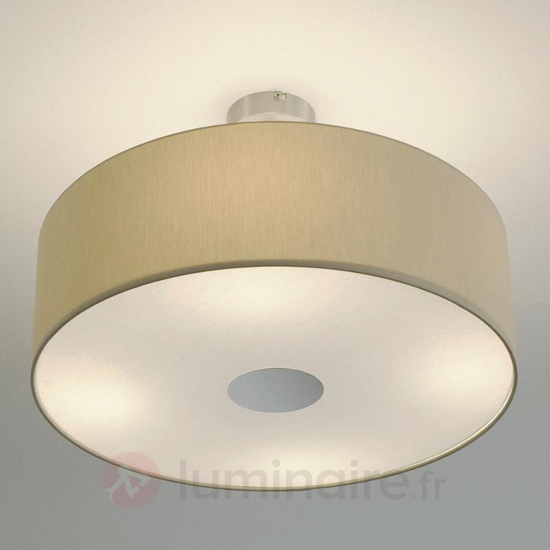 Plafonnier LED Gala doté de quatre ampoules, beige - Plafonniers en tissu