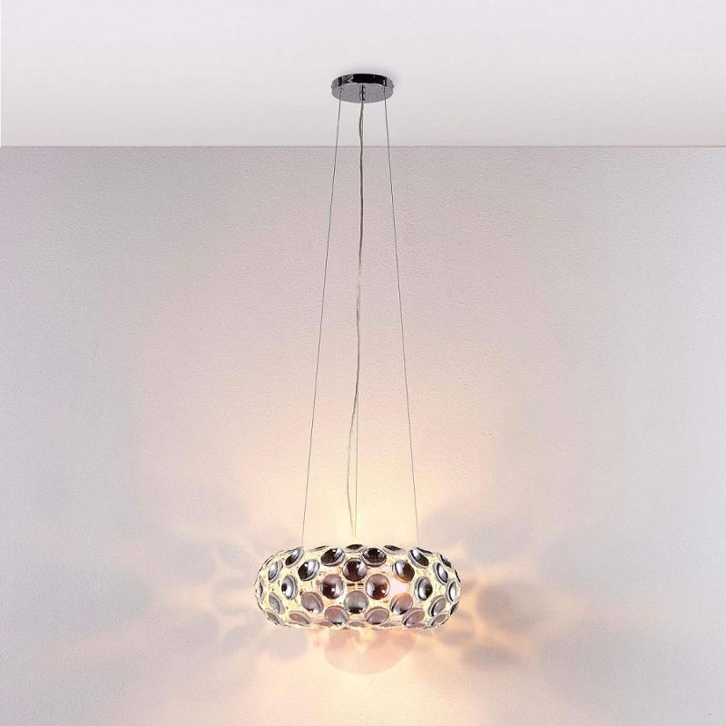 Splendid pendant lamp Reza in chrome - indoor-lighting