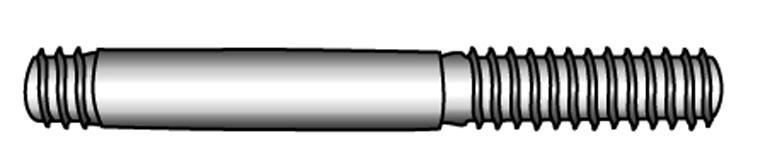 Stiftschrauben, Einschraubende ~1 d - Material A2 | A4