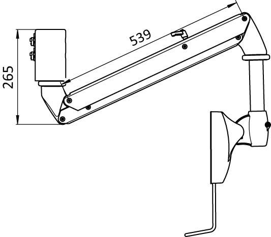 monitor suspension arm - Monitor arm for heavy monitors weighing 6 - 12 kg, overhead mounting possible